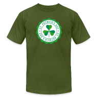 T-Shirts ~ Men's T-Shirt by American Apparel ~ Lucky Shamrock Badge - St. Patrick's Day