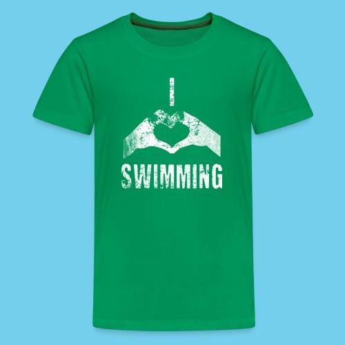 Dad's Swim Taxi, VINTAGE Youth Premium Tee - Kids' Premium T-Shirt