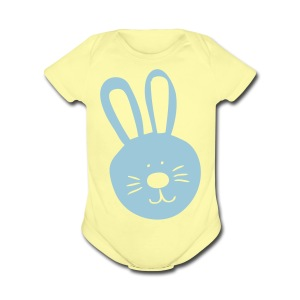 Easter bunny Baby Short Sleeve One Piece - Short Sleeve Baby Bodysuit