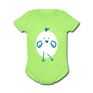 Easter egg Baby Short Sleeve One Piece - Short Sleeve Baby Bodysuit