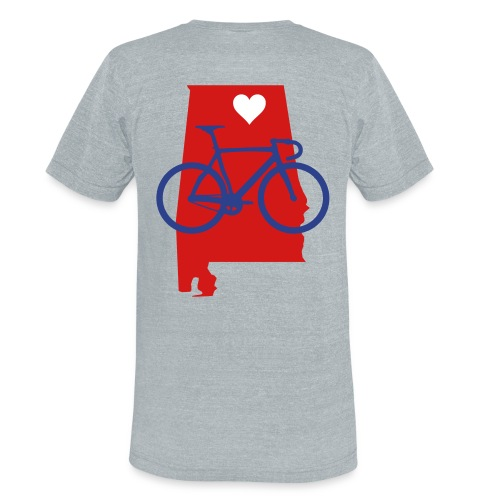 Bike Alabama Blue/White - Unisex Tri-Blend T-Shirt