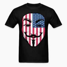 Guy Fawkes American Flag T-Shirts
