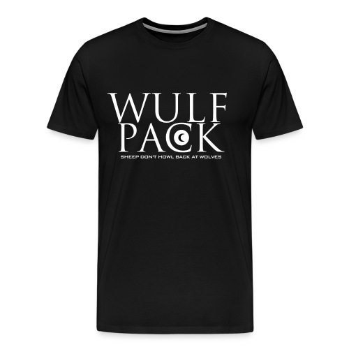 Wulf Pack White x On Black - Men's Premium T-Shirt