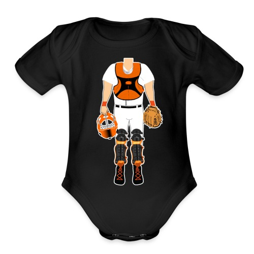 Catcher - Organic Short Sleeve Baby Bodysuit