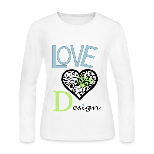 Love Design - Women's Long Sleeve Jersey T-Shirt