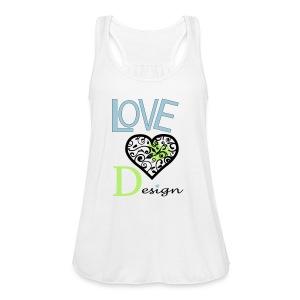 Love Design - Women's Flowy Tank Top by Bella