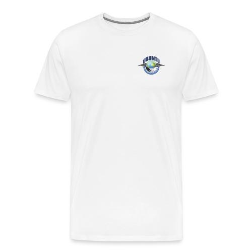 UBUNTU Small Front - Book Image back FC - Men's Premium T-Shirt