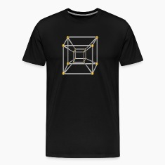 TESSERACT, Hypercube 4D, silver gold, Symbol - Dimensional Shift, Metatrons Cube, T-Shirts