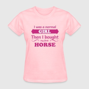 I was a normal Girl - Horse Women's T-Shirts - Women's T-Shirt