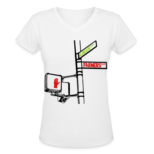 Street Signs Women's T-Shirt - Women's V-Neck T-Shirt
