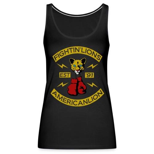 W Gold Fightin Lion Tank - Women's Premium Tank Top