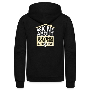 Ask Me About Zip Hoodie - Unisex Fleece Zip Hoodie by American Apparel