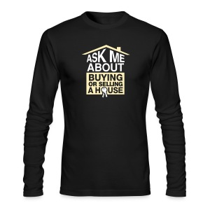 Ask Me About Long AA - Men's Long Sleeve T-Shirt by Next Level
