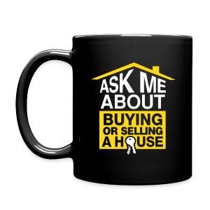 Ask Me About right mug blk - Full Color Mug