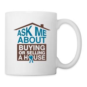 Ask Me About left mug wht - Coffee/Tea Mug