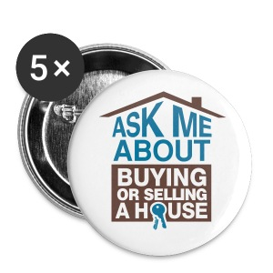 Ask Me About 2.25 pin - Large Buttons