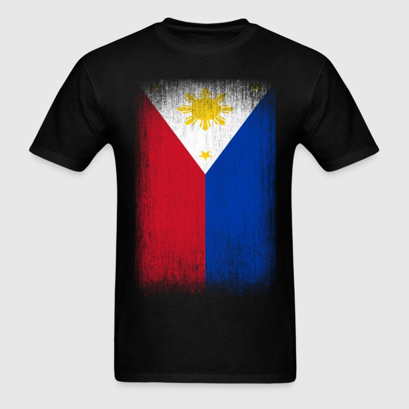 Philippines filipino pride flag grunge look t shirt for Philippines t shirt design