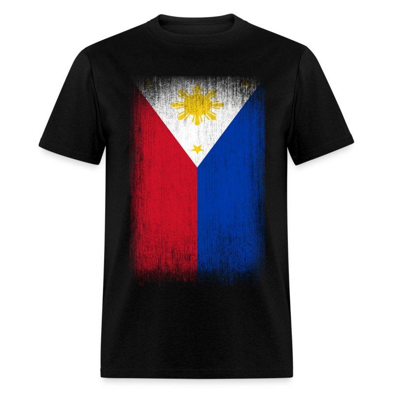 Philippines Filipino Pride Flag Grunge Look T Shirt