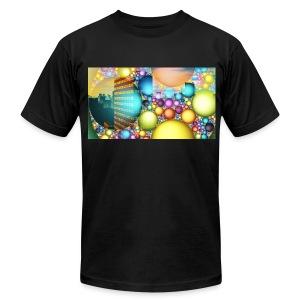 City Neon Lights Men's T-Shirt by American Apparel - Men's Fine Jersey T-Shirt