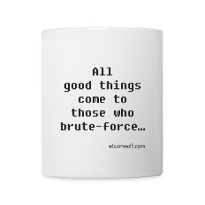All good things come to those who brute-force... black on white - Coffee/Tea Mug