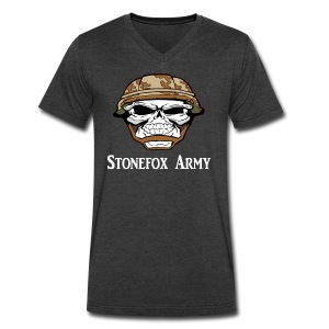 Stonefox Army V-Neck T-Shirt - Men's V-Neck T-Shirt by Canvas