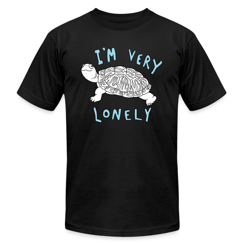 Lonely with White (1).png - Men's Fine Jersey T-Shirt
