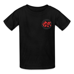 Kids' T-Shirt - A Judo design revealing Judo Kanji on the back and the Honor Martial Arts logo on the left front.