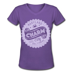Charm City Baltimore - Women's V-Neck T-Shirt