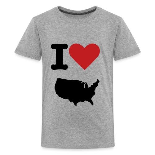 I Love USA - Kids' Premium T-Shirt