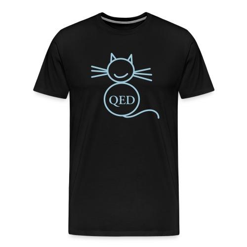 The QED cat - Men's Premium T-Shirt
