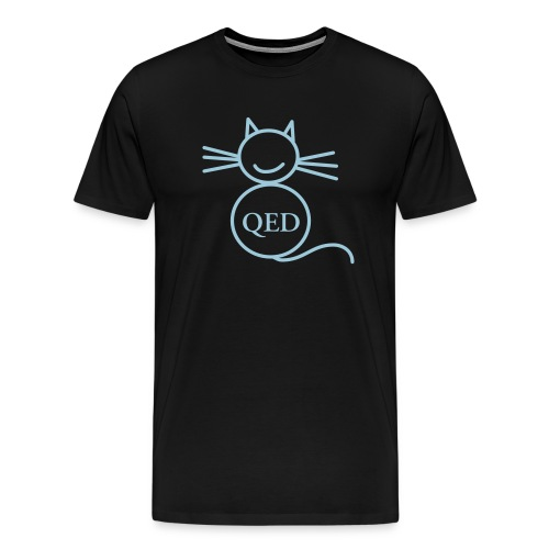 The QED cat - Men's Premium T-Shirt