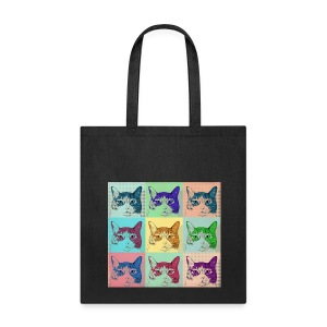 NINE IMAGES OF A CAT-WARHOL - Tote Bag