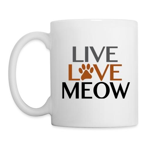 LIVE, LOVE MEOW - Coffee/Tea Mug