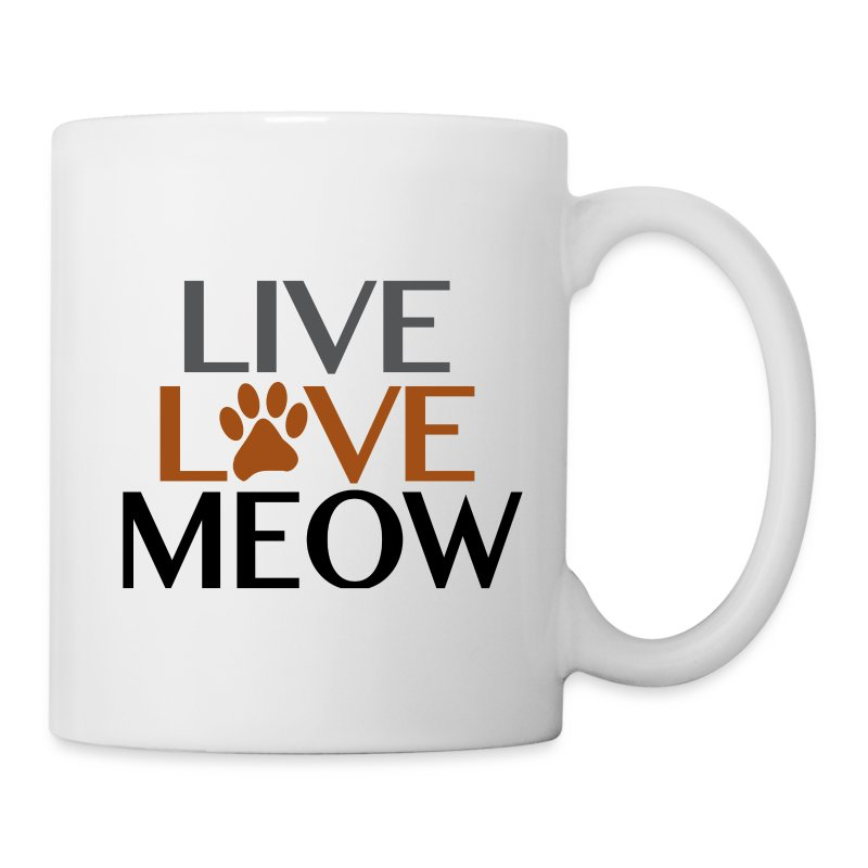 LIVE, LOVE MEOW - Coffee/Tea Mug