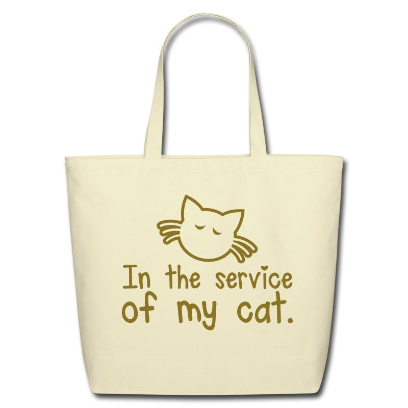 IN THE SERVICE OF MY CAT - Eco-Friendly Cotton Tote