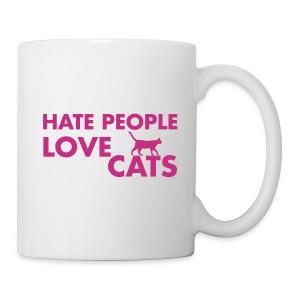 HATE PEOPLE, LOVE CATS - Coffee/Tea Mug