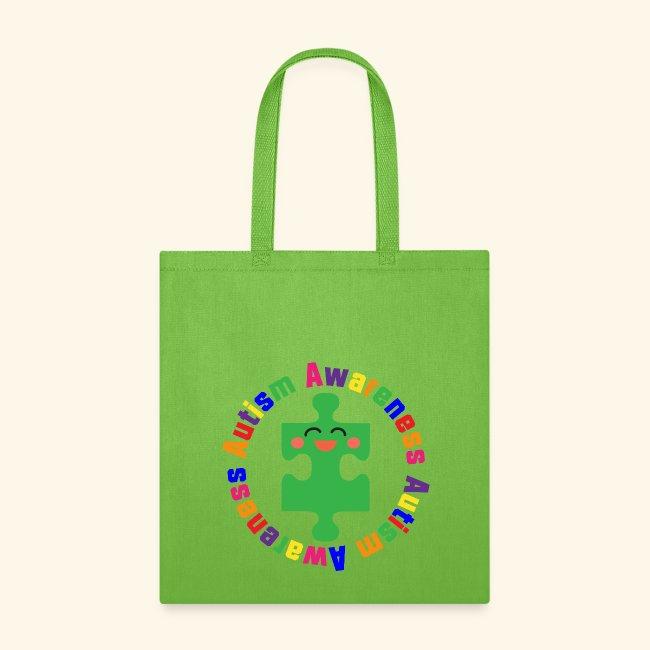 homewise shopper autism puzzle piece awareness tote bag tote bag