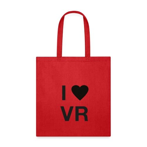 I Love VR black - Tote Bag