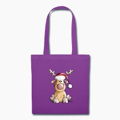 Funny Christmas Reindeer Bags & backpacks