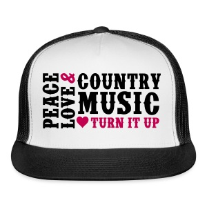 PEACE LOVE COUNTRY MUSIC HAT - Trucker Cap
