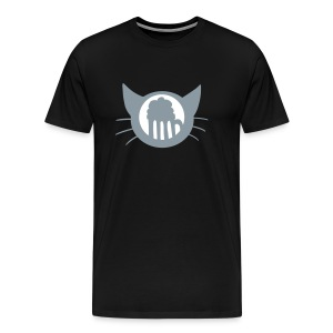 Thinking of Beer cat - Men's Premium T-Shirt