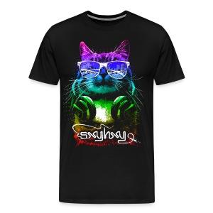 Gamer Cat Black - Men's Premium T-Shirt