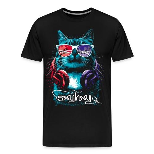 Cool Cat Black - Men's Premium T-Shirt