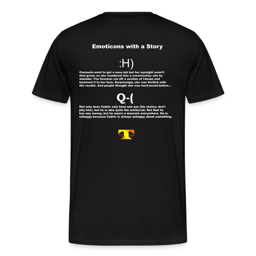 Emoticons with a Story #2 (dark) - Men's Premium T-Shirt