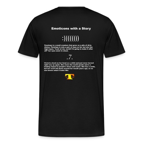 Emoticons with a Story #1 (dark) - Men's Premium T-Shirt