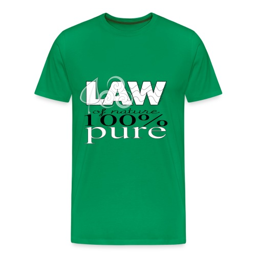 Law of Nature 100% Pure--T-Shirt - Men's Premium T-Shirt