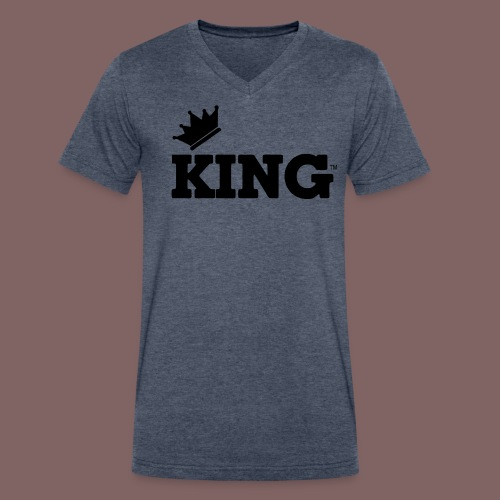 the king  - Men's V-Neck T-Shirt by Canvas