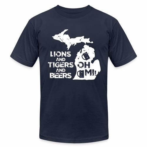 LIONS & TIGERS & BEERS, OH MI! - Men's Jersey T-Shirt