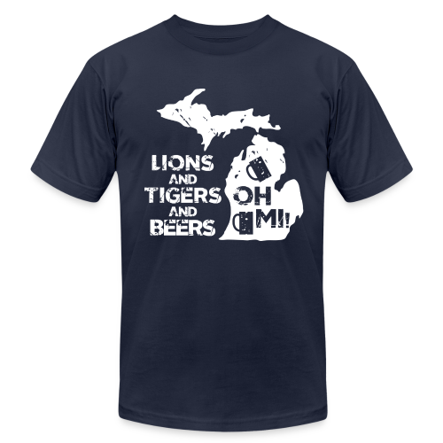 LIONS & TIGERS & BEERS, OH MI! - Men's Fine Jersey T-Shirt