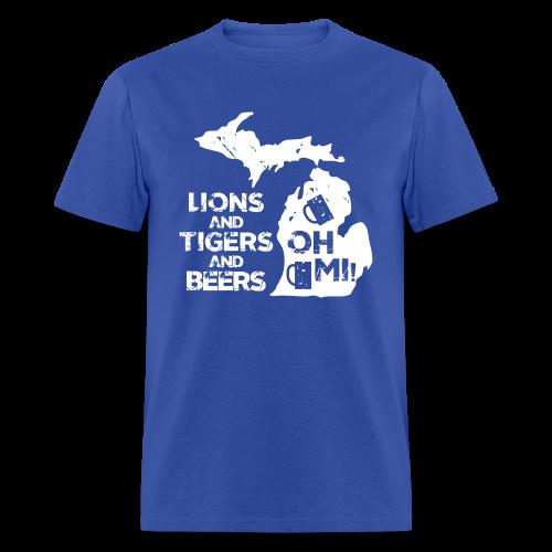LIONS & TIGERS & BEERS, OH MI! - Men's T-Shirt